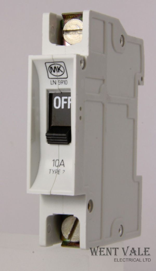 MK Sentry - LN5910 - 10a Type 2 Single Pole MCB Unused